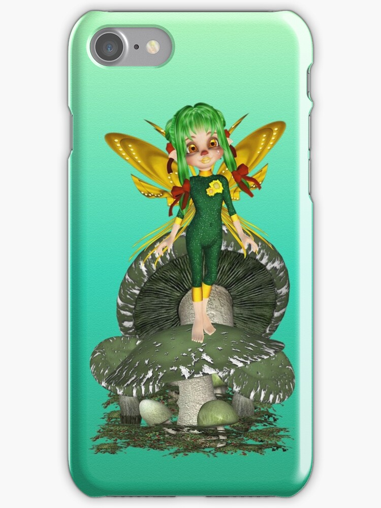 Green Fairy .. iphone case by LoneAngel