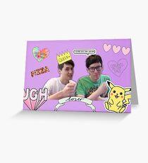 Ugh Dan and Phil Greeting Card