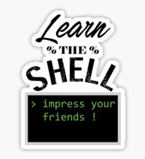 Learn the shell Sticker
