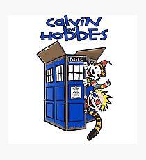 Calvin And Hobbes Tardis Photographic Print