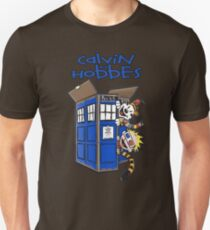 Calvin And Hobbes Tardis Unisex T-Shirt