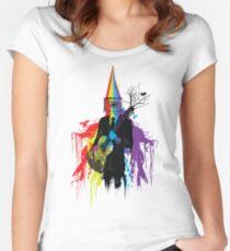 Surrealism man guitarist Women's Fitted Scoop T-Shirt