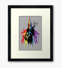 Surrealism man guitarist Framed Print
