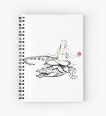 Akhilandeshvari - The Goddess Of Never Not Broken Yoga Art Spiral Notebook