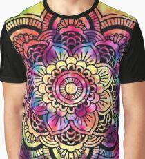 Rainbow Tie Dye Mandala Graphic T-Shirt