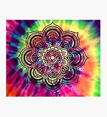 Rainbow Tie Dye Mandala Photographic Print