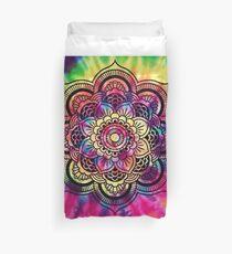Rainbow Tie Dye Mandala Duvet Cover