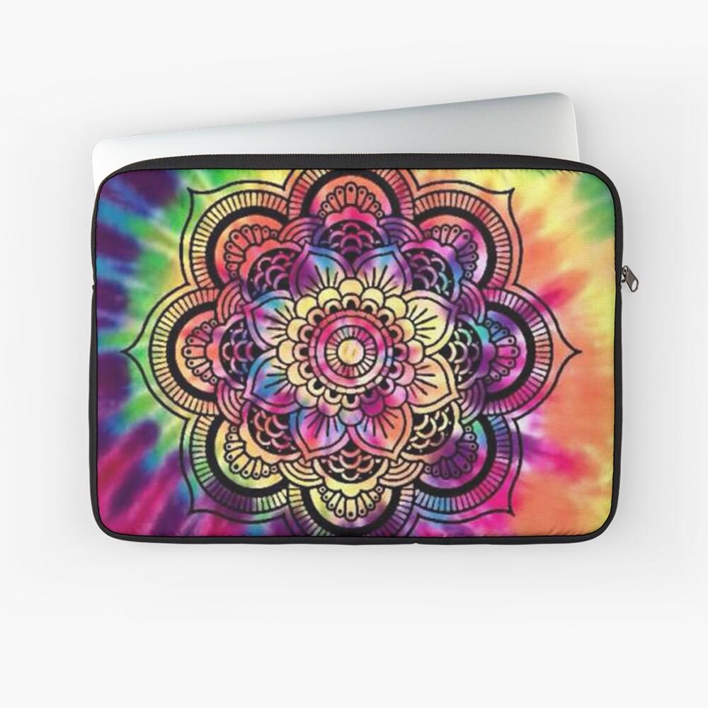 Rainbow Tie Dye Mandala Laptop Sleeve