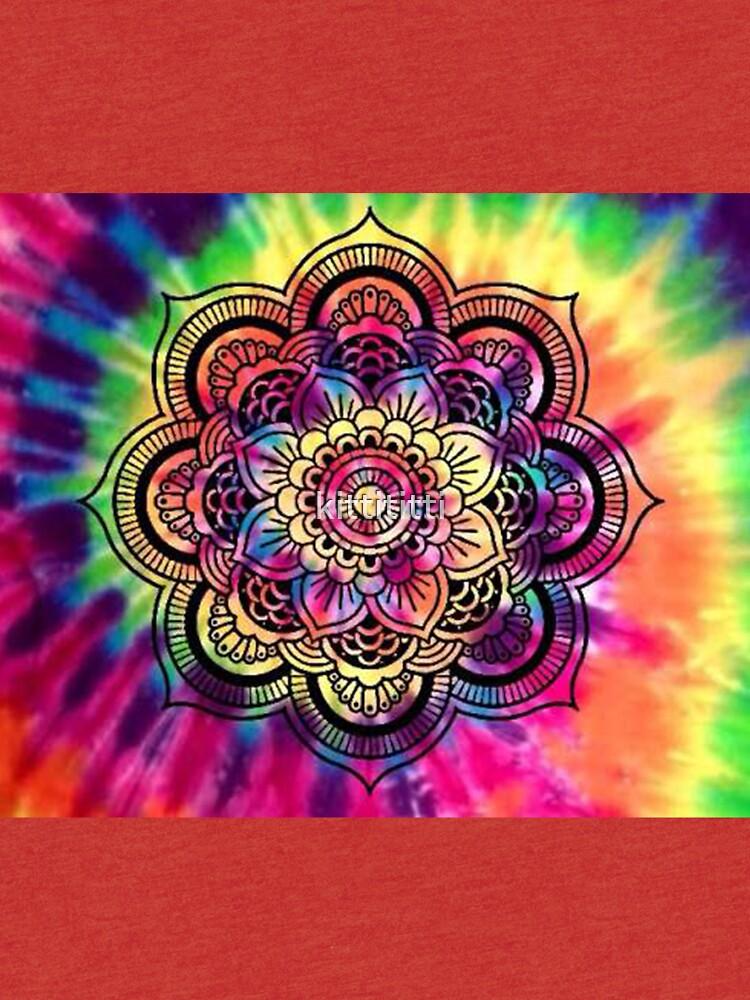 Rainbow Tie Dye Mandala by kittititti