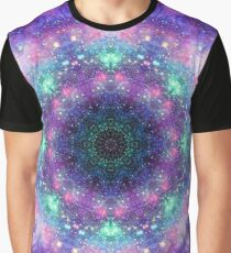 Trippy purple space mandala Graphic T-Shirt