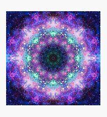 Trippy lila Raum Mandala Fotodruck