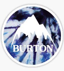 Burton logo tie dye Sticker