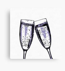 Champagne wishes and caviar dreams Canvas Print