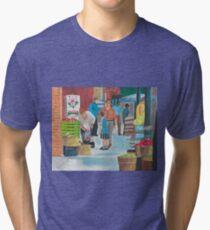 Jame St Fish Market Tri-blend T-Shirt