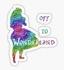 Off To Wonderland Sticker