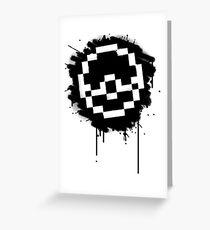 Pokeball Spray paint Greeting Card