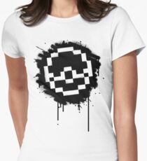 Pokeball Spray paint Womens Fitted T-Shirt