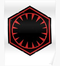 Star Wars Empire Symbol Worn Poster