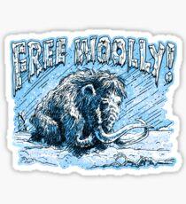 Pegatina Woolly Mammoth Perseveres Free Woolly