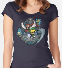 Zelda Wind Waker Earth Temple Women's Fitted Scoop T-Shirt