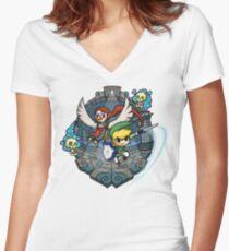 Zelda Wind Waker Earth Temple Women's Fitted V-Neck T-Shirt