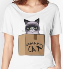 Unhappy Cat Women's Relaxed Fit T-Shirt
