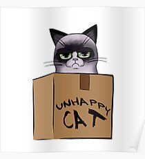 Unhappy Cat Poster