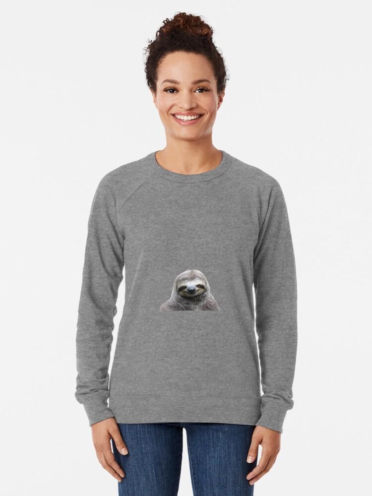 Alternative Ansicht von Lächelnde Faultier Leichter Pullover