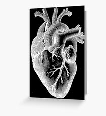 Anatomical Heart - White Outline Greeting Card