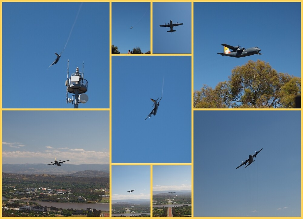 Last flight over Canberra c130 by Tom McDonnell