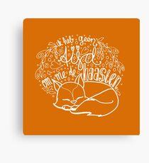 Geen tijd - oranje Canvas Print