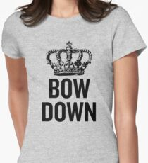 Bow Down Women's Fitted T-Shirt