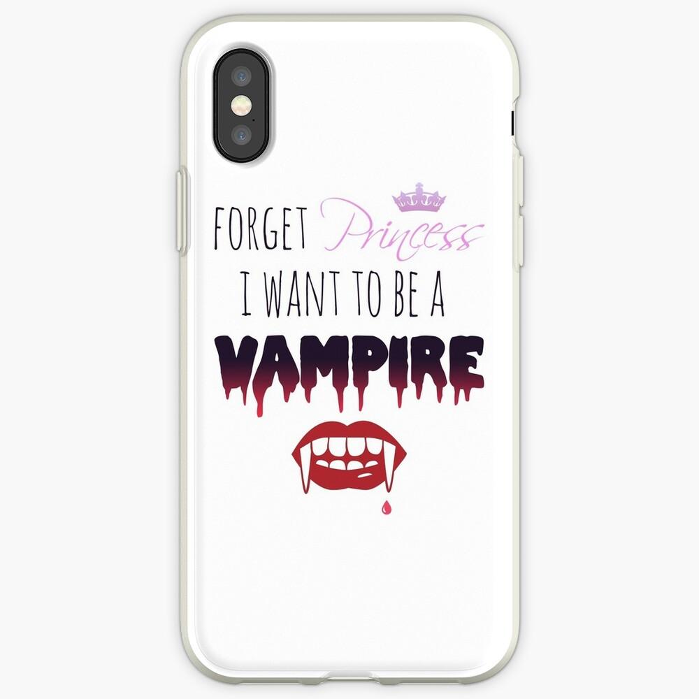 Vergiss Prinzessin, ich möchte ein Vampir sein! iPhone-Hülle & Cover