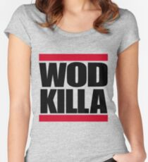 "Old Skool - ""WOD KILLA"" Women's Fitted Scoop T-Shirt"