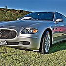 Silver Maserati at Carrack Hill by Ferenghi