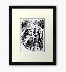 Angry dwarf Framed Print