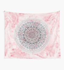 ICELAND MANDALA IN PINK  Wall Tapestry