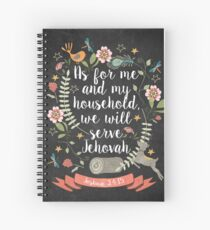 Joshua 24:15 Spiral Notebook