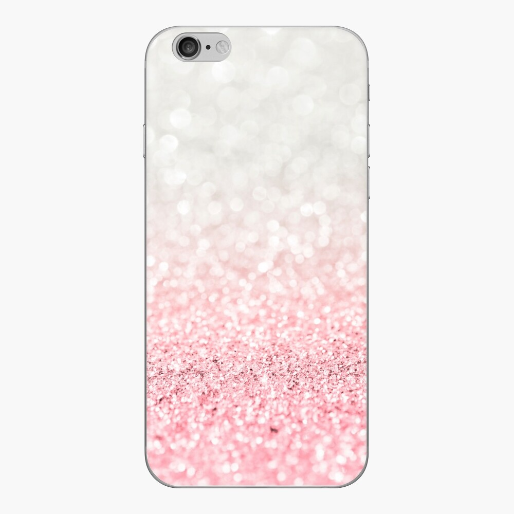 Rosa Ombre Glitter iPhone-Hüllen & Cover