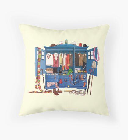 The Who-drobe Throw Pillow
