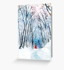 February Snow Greeting Card