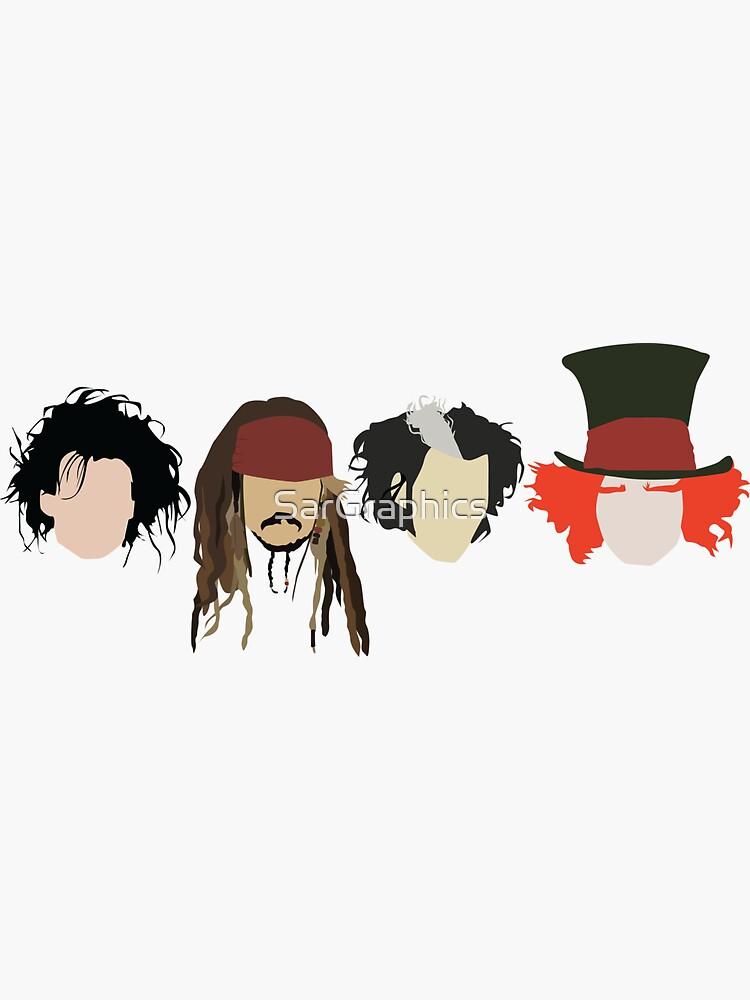 Johnny Depp - Charaktere von SarGraphics