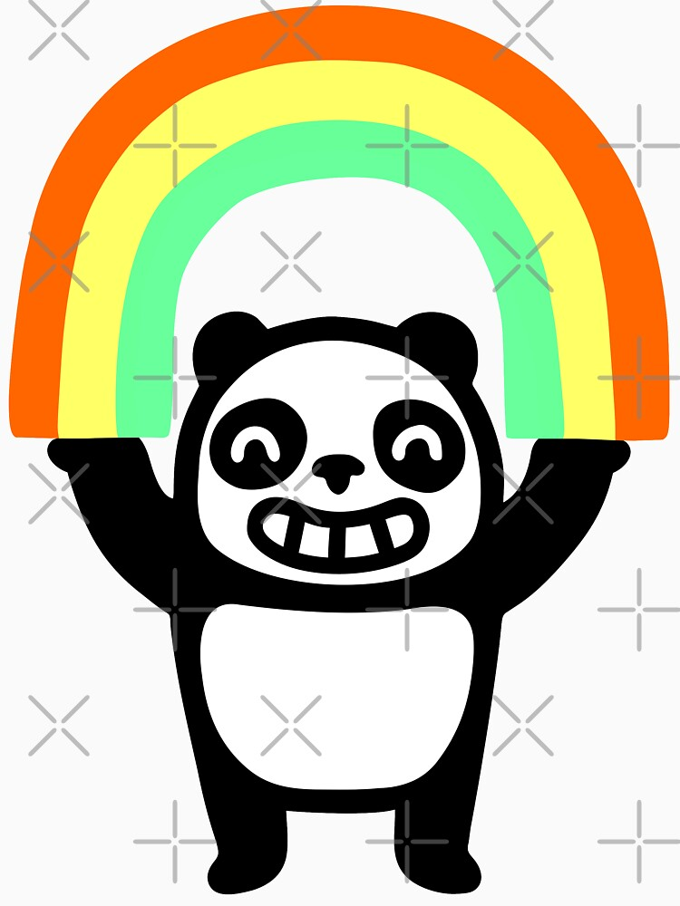 Panda Found A Rainbow by obinsun