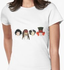 Johnny Depp - Characters Women's Fitted T-Shirt