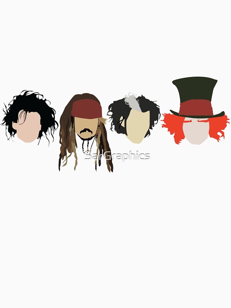 Johnny Depp - Personajes de SarGraphics
