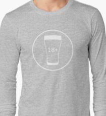 BEER : +18 ONLY Long Sleeve T-Shirt