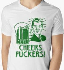 Irish Cheers For Saint Patricks Day Men's V-Neck T-Shirt