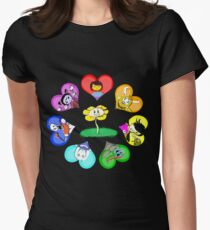 Undertale - Hearts with Characters Womens Fitted T-Shirt