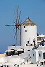 Windmill on Santorini by Carole-Anne