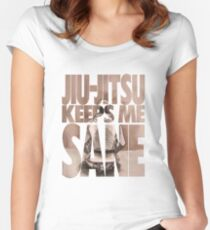 Jiu-Jitsu Keeps Me Sane Women's Fitted Scoop T-Shirt